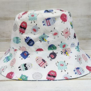 Cute Monster Dotted Double Sided Fisherman Hat Visor