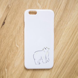 【Responded to resale request】 Looking up the sky polar bear Smartphone case