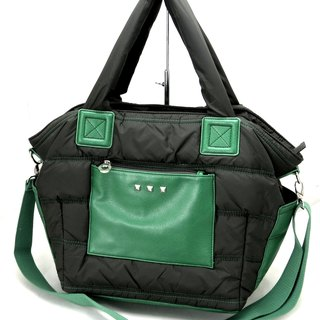 Easy life light nylon cotton dual - use bag (handbag / shoulder bag) - Safari army green