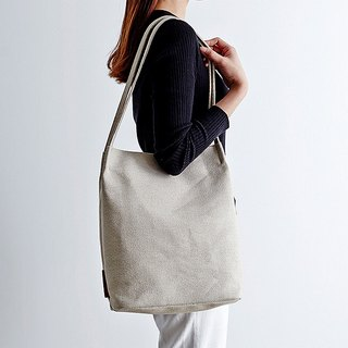 Korea ithinkso Linen nude color bag NEAT BAG RAW leisure life linen handbag Cebei