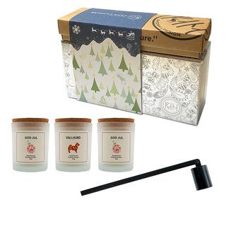 Vana Candles Christmas Silver Gift Set - Candle Mask