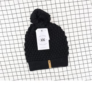 Handmade hook delicate wool Cap Abby paragraph classic black spot - the United States Krochet Kids moral fashion brand counters