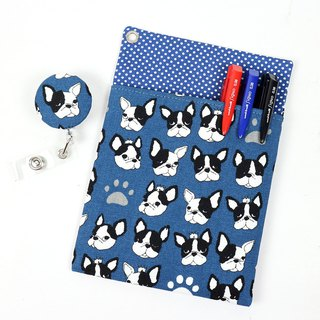 Physician Pocket Pocket Leakproof Ink Storage Bag Pen Bag + Document Clip - Round Bulldog (Basket)
