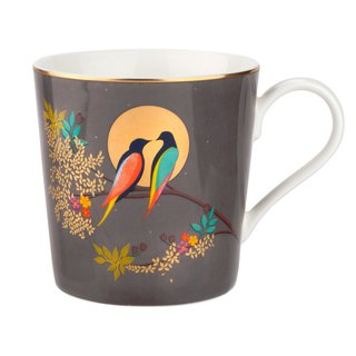 Sara Miller London for Portmeirion Chelsea Collection Mug - Dark Grey