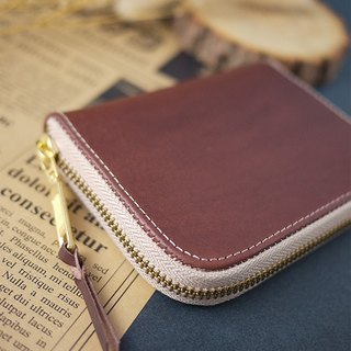 Italian vegetable tanned leather. Classic short clip / wallet / wallet / purse