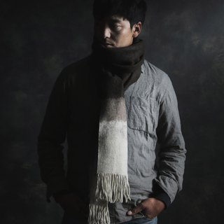 Tri-color Yak Wool Felt Scarf