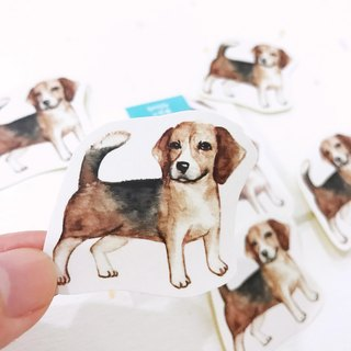 Puppy Series Sticker-Stickers!Watercolor,illustrations,Sticker,Beagle Sticker,cute Stickers,Handmade Sticker,Laptop Sticker