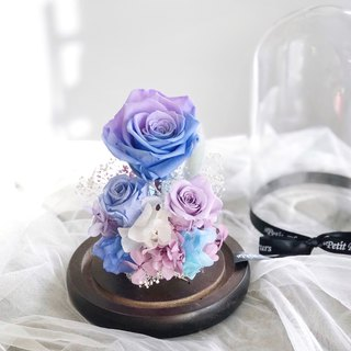 Preserved Flower decoration/gifts/Valentine's Day/birthday/blue and purple rose