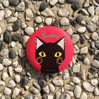 Big Head Cat badge - Bombay Cat Bombay