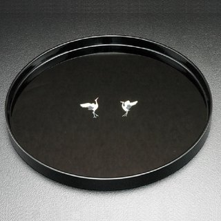 100 pairs of crane lacquer discs (inlaid shell - black)