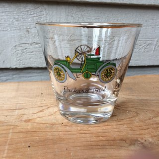 1902 hand-painted antique car glass