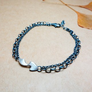Pure silver love feather necklace 1180 yuan (1,480 yuan bracelet)