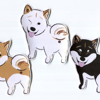Shiba Inu Large Sticker Set 3 Stickers Waterproof