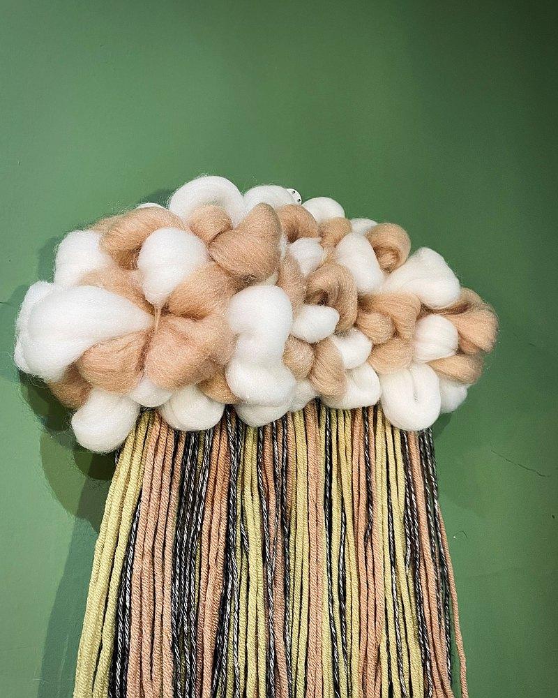 手作雲朵瀑布 / 基礎織布體驗 / cloud weaving
