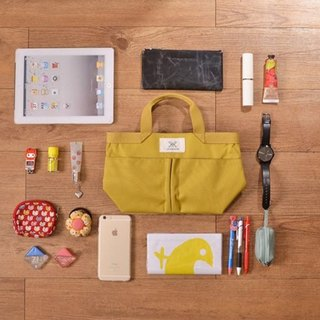LaPoche Secrete: Exchanging Gifts_Elegant Storage Bag Medium Bag_Yellow