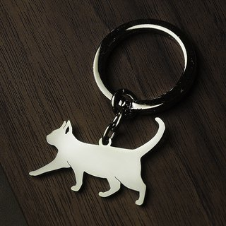 [Loveit] stainless steel key ring hollow shape dog tag