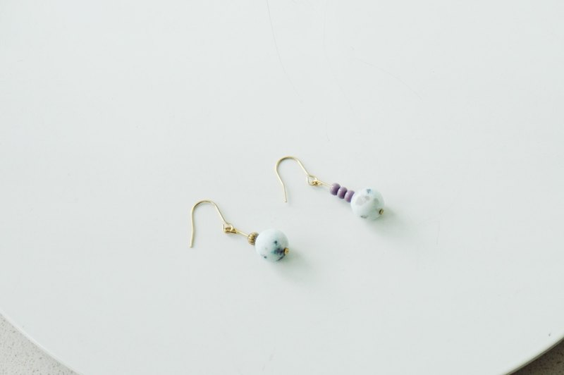 17 Autunm-Colorful Stone Earring- Blue and Green