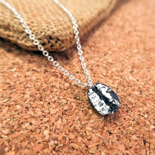 Arabica - sterling silver coffee beans necklace