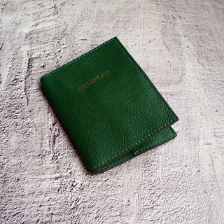 My Little Travel - Leather Green Leather Passport Passport Set Passport Clip