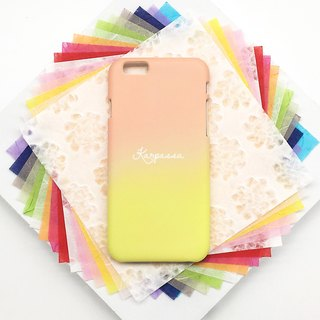 Kapok-gradation flower language-iPhone/Samsung, OPPO, HTC, Sony original mobile phone case/sleeve