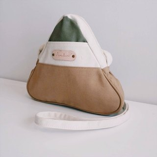 mini crossbody triangle bag small size white,brown,army green colour