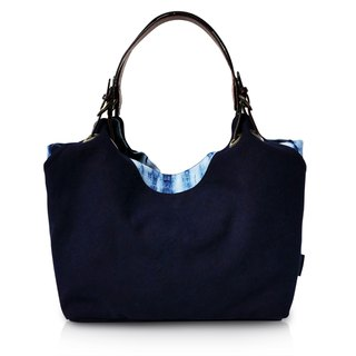 Zhuo also blue dyed - 婉 about series shoulder bag