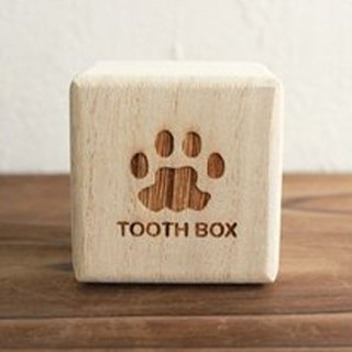 Breast tooth box High quality 'kiri' dog cat 'iroha: Illustration of foot type' Child's teeth Adult's teeth Baby gifts Present Iroha foot type (dog, cat, adult tooth box, child's tooth box wisdom teeth breast tooth case) paulown