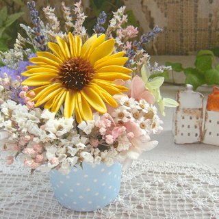 Sunflower lavender mint cream small cake dried flowers eternal flower birthday gift