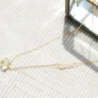 Lemon Quartz spring of necklace (14kgf)