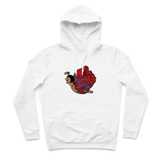Heart snail - White - Hooded T-Shirt
