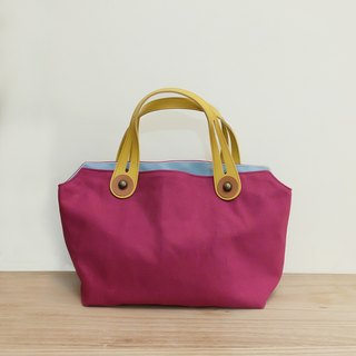 Palette picnic bag lunch bag Japanese mention purple red x Minghuang x light blue