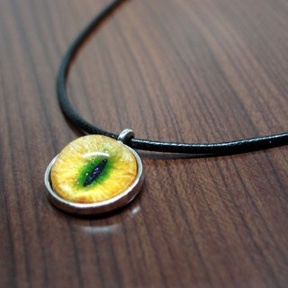 Fox Garden Hand 20mm Cat Necklace - Yellow Green