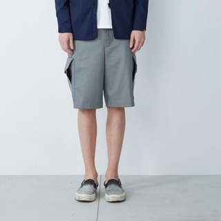 Dry and wet separation - multi-pocket functional shorts - gray
