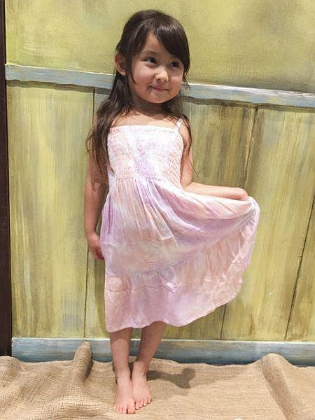 海洋色紮染兒童Cami單件連衣裙