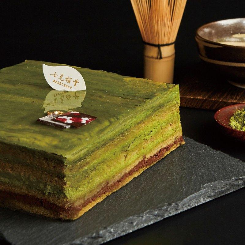 【八重茶宴】 抹茶黑巧克力蛋糕
