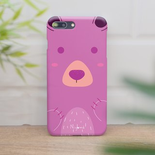 the sweet pink bear iphone case สำหรับ iphone7 iphone 8 iphone 8 plus iphone x