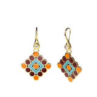 Broadway The Lion King Cloisonne Earrings (gold) -18,108,151,107
