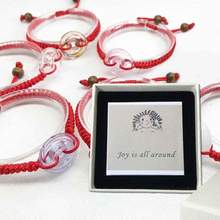Lucky Diffuser Chain Bracelet Adjustable Red Cord Braid Donut Craft Jewelry