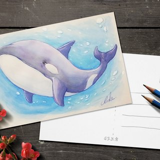 Postcard - Orca ( Watercolor )