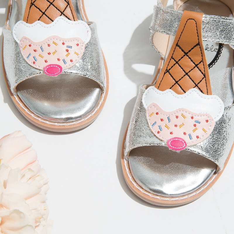 Gracie Silver Ice Cream Sandals (0 yards special offer only returns)