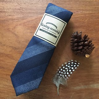 Neck Tie Blue Shade Stripe
