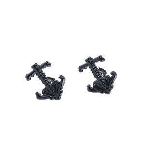 人骨海錨耳環 Bone Anchor Earring (霧黑)