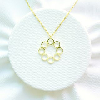 "∥Cheng Jewelry∥ Geometric accessories ""Unlimited II"" 18K Gold-plated copper necklace"