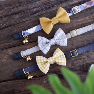 Cat Collars Mustard-Gray