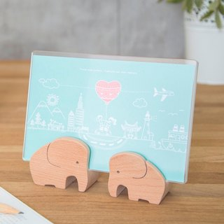 Elephant Couple Photo Frame