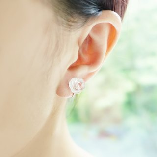 ROSE- Limited Clear Quartz Sterling Silver Piercing Earrings