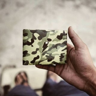 Supervek original camouflage hand-made paper wallet / wallet / short clip Tyvek environmental protection material waterproof tear
