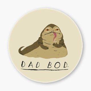 Snupped Ceramic Coaster - 陶瓷杯墊 - dad bod