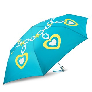 Ultra Lightweight Auto Open Close Umbrella - Heart Charm