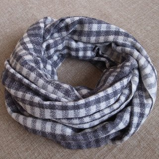 【Grooving the beats】Cashmere Stripes Shawl / Scarf / Stole Plaid Grey